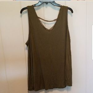 Lane Bryant Tops - Crochet Strappy-Back Tank